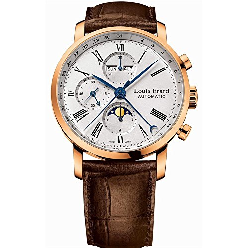 LOUIS ERARD MEN'S WELL GROOMED 42MM BROWN AUTOMATIC WATCH 80231OR01.BAC52
