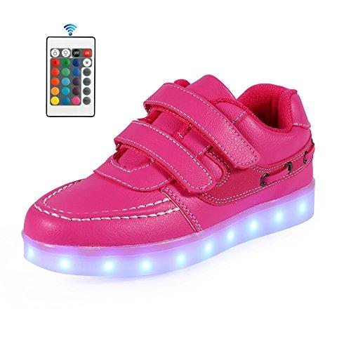 AFFINEST Kinderschuhe 7 Farben LED Schuhe USB Charging LED Fashion Sneakers Mit (2017 Rave Kostüme)