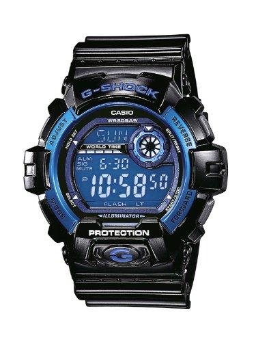 Casio G-Shock Quarz Digital Herren Uhr Schwarz Blau G-8900A-1ER (Casio Classic Schwarz)