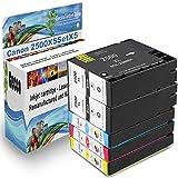 Spetan Druckerpatrone Ersatz für Canon PGI 2500 XL Multipack Schwarz BK Black Cyan Magenta für Canon Maxify mb5350 mb5050 mb5450 mb4050 iB4050 , set Auswählen: :5er Set