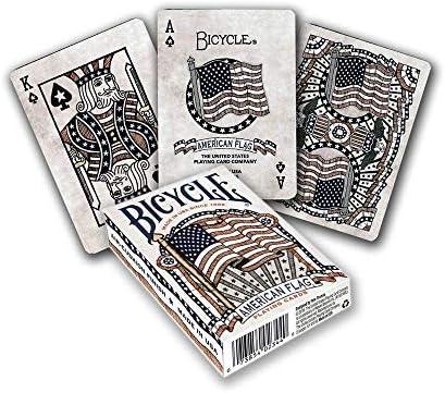 Bicycle Vélo Pont de Drapeau américain Poker Taille Standard Index Jeu de Cartes, Pont de Drapeau américain | Attrayant De Mode