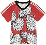 adidas Damen 3-Stripes T-Shirt Printed, Multicolor, 44