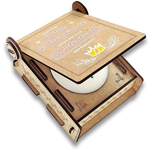 Candle IN The Box Patentante Fragen | Geschenk-Box mit Botschaft & Kerze | Personalisiert mit Foto & Namen | zur Patentante befördert (Rosa) - Meine Rosa Schürze
