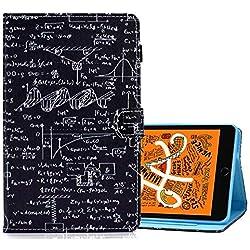 A BEAUTY Coque pour Samsung Galaxy Tab S5e 10.5 Pouces 2019 T720 / T725, 1 Stylo Gratuit, étui en Cuir PU avec étui pour Carte De Support, Géométrie