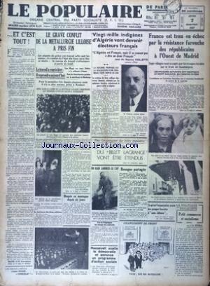 POPULAIRE (LE) [No 5079] du 07/01/1937