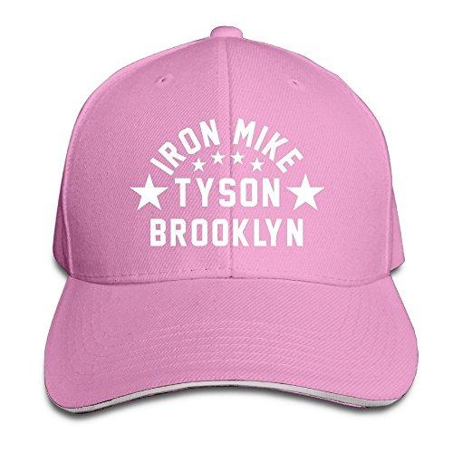 trithaer-custom-iron-mike-tyson-brooklyn-adjustable-sandwich-hunting-peak-tiene-cap-color-rosa-taman