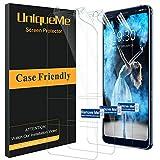 UniqueMe kompatibel mit Nokia 9 PureView Displayschutzfolie, [3 Pack] [blasenfrei] HD TPU Schutzhülle mit Schutzfolie und voller Abdeckung Weiche Flexible Folie mit innovativer Fit Technologie