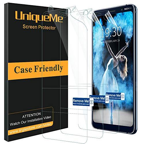 UniqueMe per Nokia 9 PureView Pellicola Protettiva, [3 Pack] [Bubble Free] HD TPU Clear Copertura Completa Film Morbido e Flessibile con Nuova Tecnologia Innovative Fit