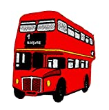 rabana London Bus UK United Kingdom Cartoon Kids Kinder Cute Animal Patch für Heimwerker-Applikation Eisen auf Patch T Shirt Patch Sew Iron on gesticktes Badge Schild Kostüm