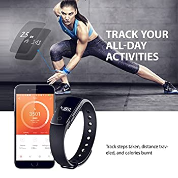 Fitness Tracker, Mpow Heart Rate Monitor Tracker Smart Bracelet Activity Tracker Bluetooth Pedometer With Sleep Monitor Smartwatch For Iphone Samsung & Other Android Or Ios Smartphones For Adults Kids 3
