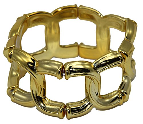 Foxxeo 35087 | goldenes 20er 40er 50er 60er Jahre Armband gold Armreif Gold Schmuck Armkette
