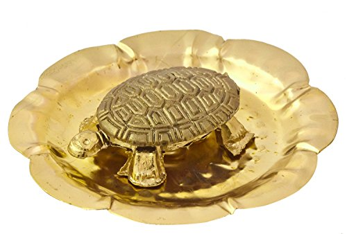 Exotic India Tortoise on Plate - Brass