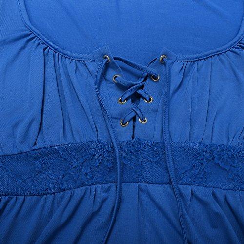 U8VISION Top a manica lunga con scollo maniche lunghe T-shirt LUSE Top Taglie S-XXXL Blau