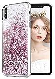 wlooo Coque pour iPhone XS/X, Glitter Silicone Paillette Étui Protection TPU Bumper...