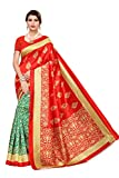 Yashika Art Silk with Blouse Piece Saree (SDPL-Urban_Green_Free Size)