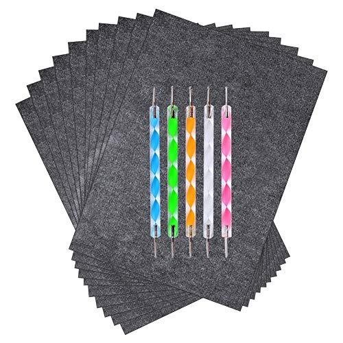 Novelfun 100 Blatt Kohlepapier Schwarzes Graphittransferpapier mit Prägestift für Holz, Papier, Leinwand und andere Kunstoberflächen (21 x 29,5 cm)