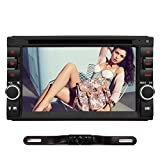 "6,2"" Doppel Din Autoradio DVD Player NAVISKAUTO Radio GPS Navigation Kapazitiv Touch Screen Bluetooth 64GB SD USB FM AM Radio Lenkrad-Steuerung Rückfahrkamera MS0263+Y0812"