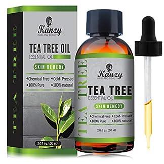 KANZY Aceite esencial de árbol de té para cara y Cuerpo masaje – El tratamiento para el acné, manchas y problemas de la piel- 100% puro – 60ml