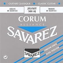 Savarez 656057 - Cuerdas para Guitarra Clásica Alliance Corum 500AJ Juego Tensión alta azur