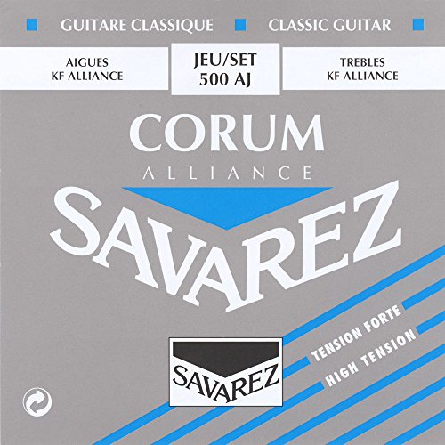 Savarez 500 AJ Saiten für Klassikgitarre Alliance Corum 500AJ Satz High Tension blau