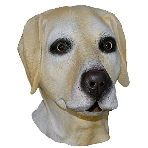 olden Labrador Voller Kopf Latex Hund Maske Kostüm Halloween Tier Hunde ()