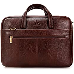 The Clownfish 13 inch / 14 inch Synthetic Signature Series Laptop and Tablet Bag - Macbook Air, Macbook Pro Laptop Bag (Brown)