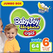 BabyJoy Culotte, Size 6, Junior XXL, 16+ kg, Jumbo Box, 64 Diaper Pants