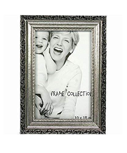 12 Stück Bilderrahmen Antik Silber für Fotos 15 x 10cm mit Glasscheibe 42804: