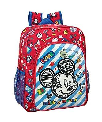 "Mickey Mouse ""Maker"" Oficial Mochila Escolar Junior 320x120x380mm por Safta"