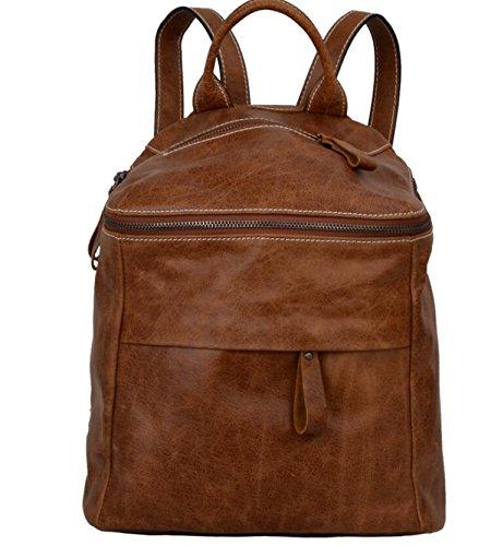 DJB/ Vintage Leder Umhängetaschen Frauen Taschen Leder Eimer Tasche Reisetasche Brown