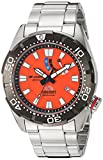 Orient m-force Bravo Automatische orange Dive Uhr mit Power Reserve Meter el0 a003 m
