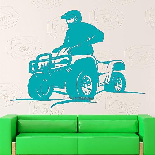 Guijiumai s Pegatinas de Pared Quad Bike Extreme Sport Vinyl Sticker Boy Rooms Coolest Art Mural Decoración...