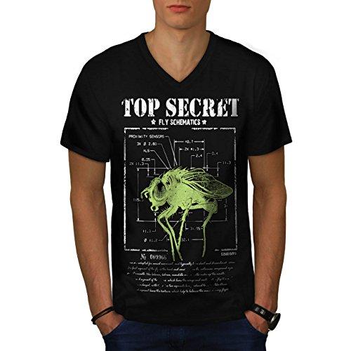 meilleur-secret-mouche-insecte-capteur-homme-nouveau-noir-l-t-shirt-wellcoda