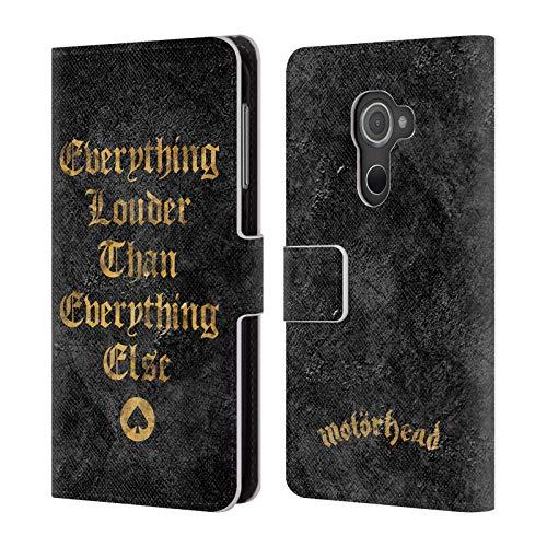 Head Case Designs Offizielle Motorhead Everything Louder Schluessel Kunst Leder Brieftaschen Huelle kompatibel mit BlackBerry DTEK60