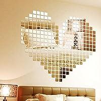 Adhesivos de pared Espejo efecto mosaico
