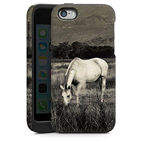 Apple iPhone 4 Housse Étui Silicone Coque Protection Cheval Jument Étalon Cas Tough brillant