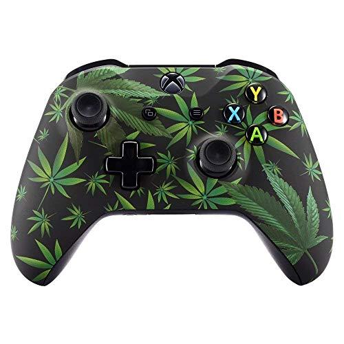 ACTMODZ eXtremeRate Xbox One X S Schutzhülle Obere Case Hülle Cover Oberschale Weiche matt Skin Housing Kit Schale Gehäuse Shell für Xbox One S/Xbox One X Controller(Grün)