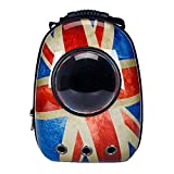 CHONGWFS Zaino traspirante portatile da viaggio per animali domestici, design a bolle di capsula spaziale, zaino impermeabile per gatti e cani di piccola taglia