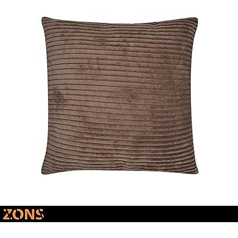 Cuscino Design Look velluto 45x 45cm + imbottitura 480g Cuscino Auto cuscino divano cuscino (3colori a scegliere) marrone