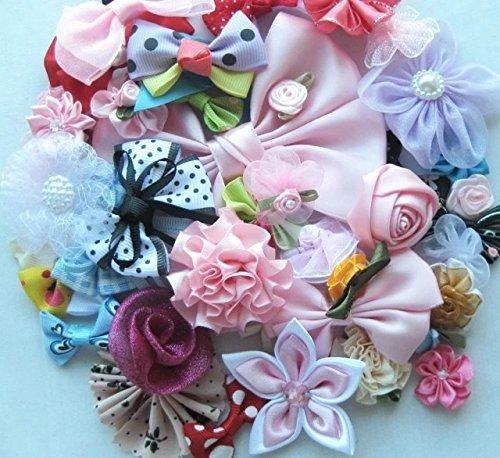chenkou-craft-mix-bulk-50pcs-ribbon-flowers-bows-craft-wedding-ornament-appliques-a0241