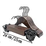 MAX-YJIA Colgadores de ropa de madera de suspensión y barra antideslizante para niños / adultos - 10 piezas , A