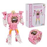 Runrain Kid Manuale trasformazione Robot Giocattoli elettronici Orologio deformato Robot Giocattolo Regali
