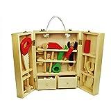 Munchkinz Wooden Carpenter Tool Box Play Set for Kids