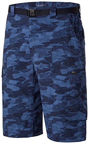 Columbia Herren Silber Ridge bedruckt Cargo Shorts Collegiate Navy Camo