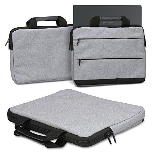 Schutzhülle für Medion Akoya E2228T Laptop Tasche Sleeve Case Notebooktasche Hülle in Grau, Farbe:Grau