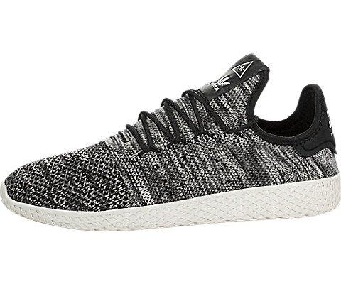71fa60855e6f7 adidas Originals Pharrell Williams Tennis HU Pimeknit Shoe Men's Casual 9.5  Chalk White-Core Black-Cloud White