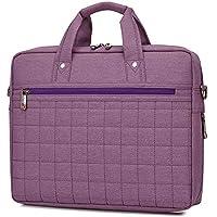 NO BRAND TEYUN Bolso de la computadora del Negocio del Bolso de Hombro de Gran Capacidad (Color : Purple, Size : 15.6inch)