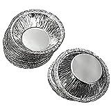 250Pcs Monouso Bicchieri Di Alluminio Teglia da forno per muffin cupcake, recipienti circolari Egg Tart Mold Mold