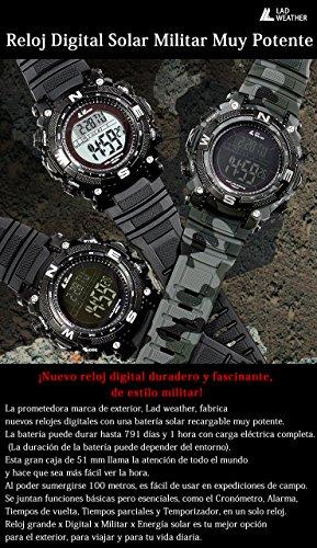 Imagen de lad weather militar reloj potente batería solar cronógrafo deportes al aire libre cmbk  alternativa