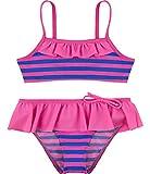 Merry Style Mädchen Bikini Set MSVRKind3 (Rosa/Kornblumen, 110)